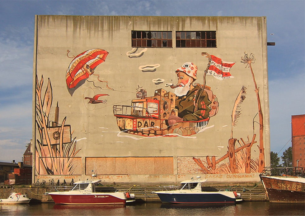 Mural Darłowo - lodownia